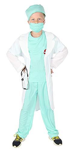 Foxxeo Arzt Kostüm für Kinder mit Arztkittel Ärztin Kinderarzt Kinderärztin ()