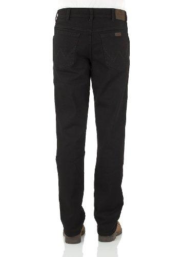 Wrangler Herren Jeans Regular Fit (grader Beinverlauf) Schwarz (BLACK OVERDYE)