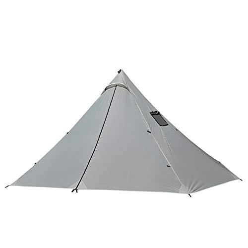 Qnlly Pyramid Ultralight Outdoor Zelt, Camping Zelt für 4 Personen (Silber) (Zelt Kodiak)