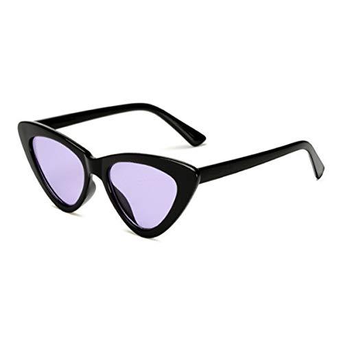 Sport-Sonnenbrillen, Vintage Sonnenbrillen, Small Cateye Triangle Cute Sexy Retro Cat Eye Sunglasses Women Black White Vintage Sun Glasses Oculos De Sol C5
