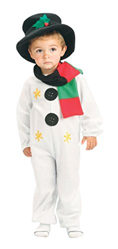 Snowman Toddler 90-104cm costume for Kids Fancy Dress (Ein Jahr Alte Jungen Halloween Kostüm Ideen)