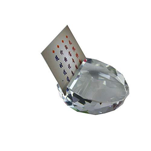 Klar Glas-schreibtisch (Kristall Glas Facettiert Karte Ball Briefbeschwerer Klar Rare Feng Shui Schreibtisch Dekoration Business Kartenhalter Craft)