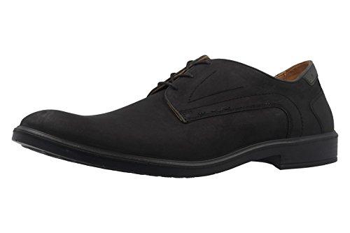 Laccio JOMOS 208203 12 uomo Derby semi scarpe, - H-weite scarpe, in nero, Nero (nero), 46 eu