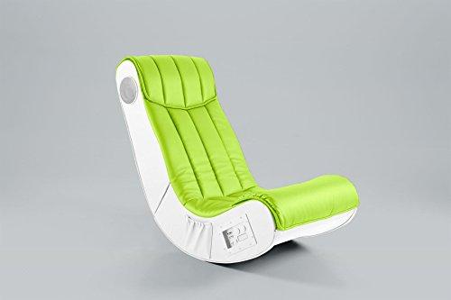 Gaming Chair Silas Spielsessel Musiksessel Design Soundsessel Lederlook lime