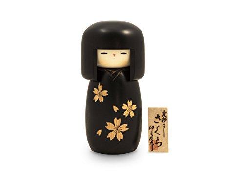 Kokeshi Zogan Cherry, Original japanische Holz-Puppe, handgeschnitzt, von Hand bemalt. Kunst aus Japan für Dekoration, als Glücksbringer, Sammlerpuppe, Talisman. Geschenk der Liebe zum Frühling. 21 cm (Der Ideen Mutter Handwerk Der Tag)