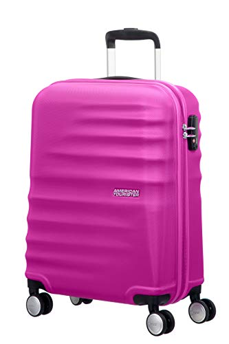 American tourister wavebreaker ,spinner s (55 cm - 36 l) ,bagaglio a mano, rosa (hot lips pink)