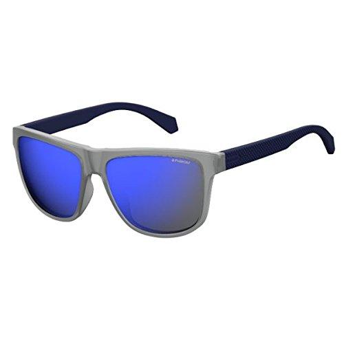 Polaroid Mirrored Wayfarer Unisex Sunglasses - (PLD 2057/S RCT 575X|57|Blue Color) image