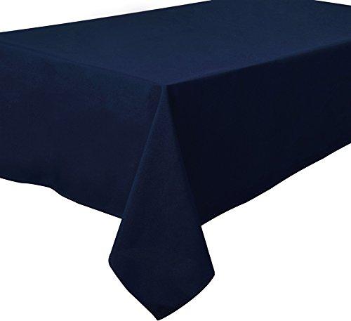 Quadratische Tischdecke Textil 180 x 180 cm, Farbe wählbar Dunkelblau