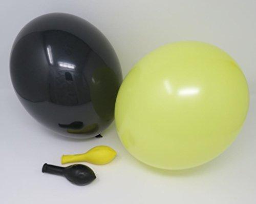 gelb & schwarz Qualitätsballons 27 cm Ø (Standardgröße B85) (Gelb Ballon)