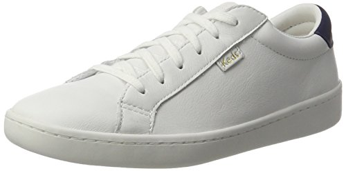 Keds Damen Ace Pith Leather Oxfords, Weiß (White/Navy), 39 EU