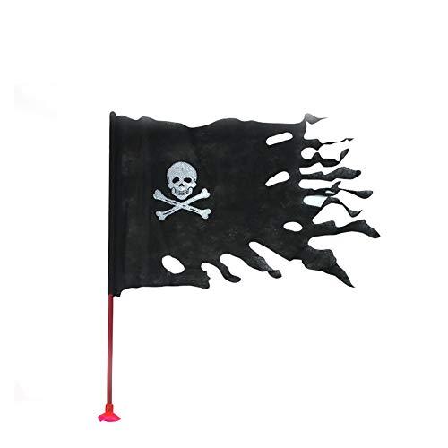 ck-Flagge Schädel Skelett Knochen Hand Waving Flags Mini Schwarz Jolly Roger Flag Hand 14 gehaltene * 21CM Dekor für Büro-Schreibtisch-Garten Bar Festival Feste 1PC ()