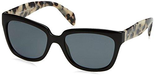 Prada Zeitgenössische Square Sonnenbrille in schwarz PR 07PS 1AB0A7 56 56 Gradient Grey