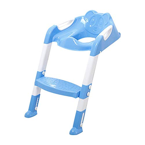 WEINANA Foldable Children Potty Seat with Ladder Cover PP Toilet Adjustable Chair Pee Training Urinal Seating Potties for Boys Girls
