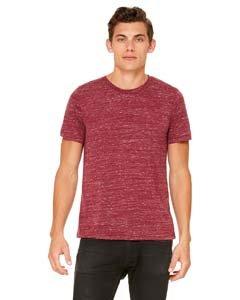 Unisex Poly-Cotton T-Shirt - Farbe: Maroon Marble - Größe: XL - Maroon Baumwolle Farbe