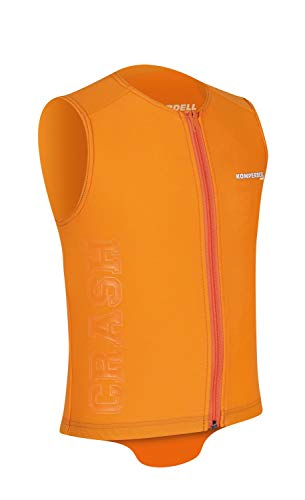 Komperdell Eco Junior Protector Vest per sci, snowboard moto paraschiena Arancione, verde, M