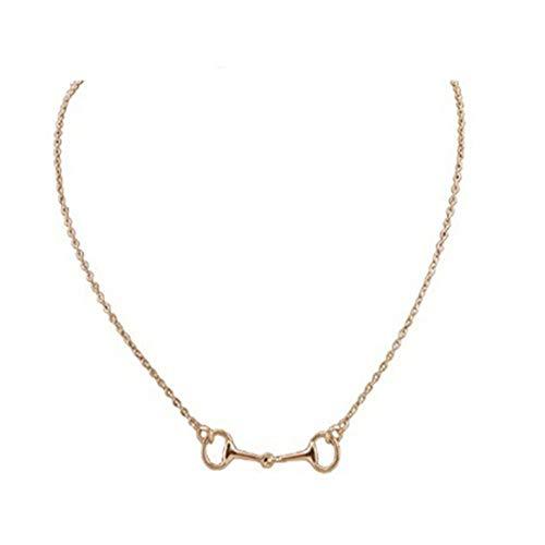 Halsketten für Frauen Schmuck WJsbxx 45Cm 925 Silber Hochglanz Silber Eisen Steigbügel Pferdestil Hochzeitsfeier Geschäftsbankett Zubehör