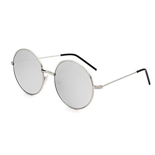 Ppy778 Polarisierte Sonnenbrille Unisex Classic Round Metal Frame Retro Sonnenbrille (Color : ORANGE)