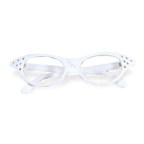 Widmann 96672 50er Jahre Brille mit Strasssteinen Damen ()