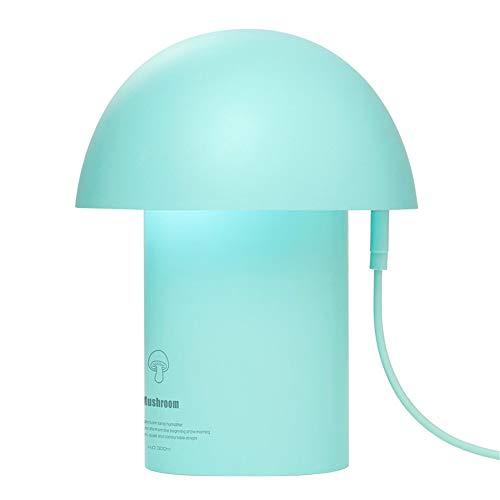 LANSKIRT Home LANSKRLSP Aromatherapie-Diffusor, LED-Lampenreiniger, Nachtlicht, Luftbefeuchter, tragbar, USB-Ladegerät, Kinderzimmer, Pilz-Luftbefeuchter, Kapazität: 300 ml, blau, Einheitsgröße -