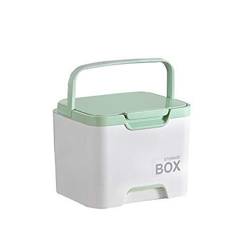 Kunststoff-Erste-Hilfe-Box mit Pille Fall, Medizinische Box mit abnehmbarem Fach für Familie Emergency Kit Speicher-Organisatoren (Fall Abnehmbare Pille)
