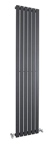 hla72Heizkörper Vertikal Sloane–hochwertige Stahl Edelstahl, anthrazit 1800mm x 354mm–1043Watt–Zentralheizung. Rang einfach von Rohren Gerichte von 50mm breit–Modernes Design. (Hudson Elektronik)