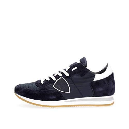 PHILIPPE MODEL PARIS TRLU 1117 Tropez Sneakers Herren BLAU BLAU 41 3a5bfb807cd