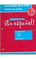 ¡en Español!: Actividades Para Todos (Workbook) with Lesson Review Bookmarks Level 1b (Espanol!)