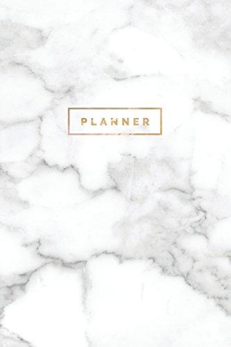 Planner: Minimalist Undated Weekly Monthly Planner (Marble Gold)