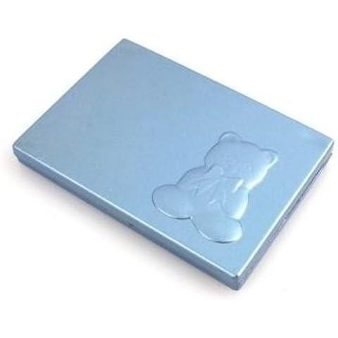 Espejo con peine Osito. (Precio 1,35€ unidad) Pack de 10 unidades (Azul)