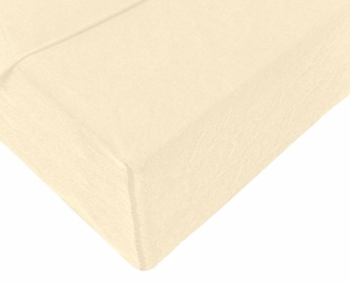 Double Jersey - Spannbettlaken 100% Baumwolle Jersey-Stretch bettlaken, Ultra Weich und Bügelfrei mit bis zu 30cm Stehghöhe, 160x200x30 Natur Weiss - 4
