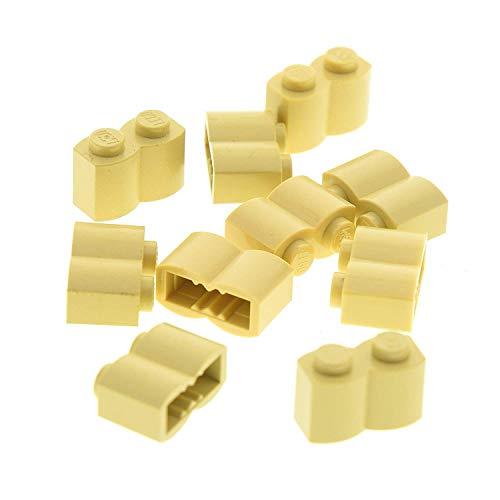 10 x Lego System Palisaden Stein beige tan 1 x 2 Noppen Palisade für Set Star Wars 7785 7671 6243 10236 10226 10214 10134 30136