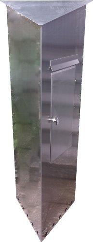 Großraumbriefkasten TRIANGELO Edelstahl-V2A Entnahme von rechte Seite