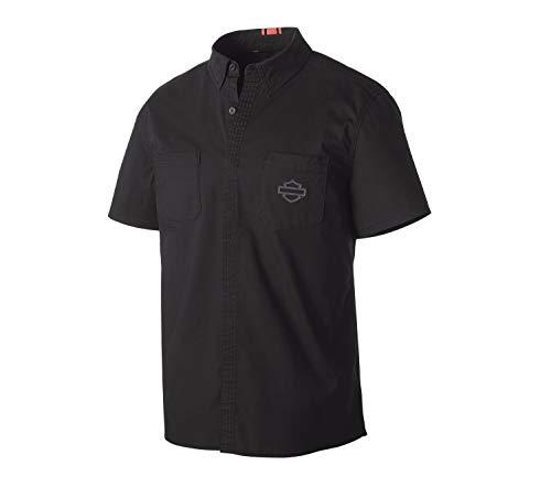 HARLEY-DAVIDSON® Men's Stretch Poplin Slim Fit Shirt - 99151-19VM - Snapdown Shirt