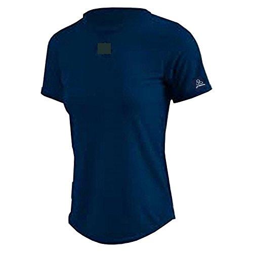 904 W Sleeve Logo Damen Kurzarm Micro-Fiber Shirt Navy XL ... (Shirt Sleeve Microfiber)