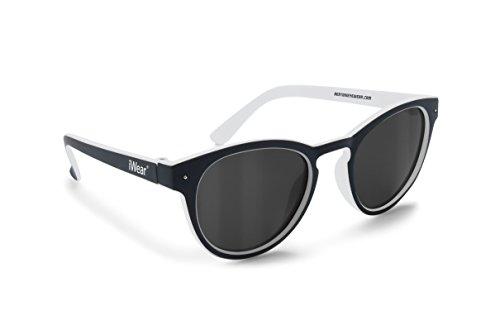 Kinder Sonnenbrillen 6 bis 12 Jahren - Polarisierende Gläser 100% UV Schutz - FT48 Bertoni Italy (Black)