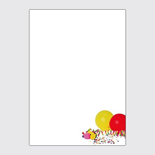 """Werbeplakat """"Karneval / Fasching - Luftschlangen mit Luftballon"""" in der Größe DIN A3"""