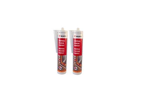 wurth-silicona-2-unidades-transparente-perfecto-310-ml-neutral-de-ventana-acristalamiento