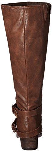 Carlos by Carlos Santana Camdyn Wide Calf Rund Mode-Knie hoch Stiefel Cognac