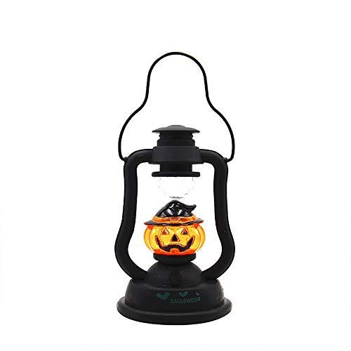 YEARYOWN Halloween Laterne Laterne Kreative Sounding Glowing Pumpkin Light Bar Spukhaus Dekoration - Dunkle Braut Kostüm Kind