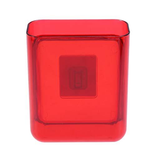 Yardwe organizer per autoadesivo adesivo di supporto per montaggio a parete organizer per cosmetici autoadesivo (rosso)