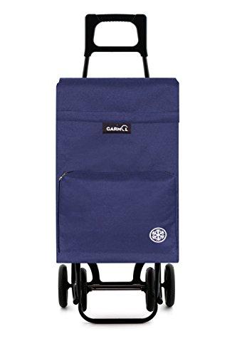 Garmol 404TCT C3 - Carro de Compra 4 Ruedas, Tela, 40x27x105 cm, Azul Marino