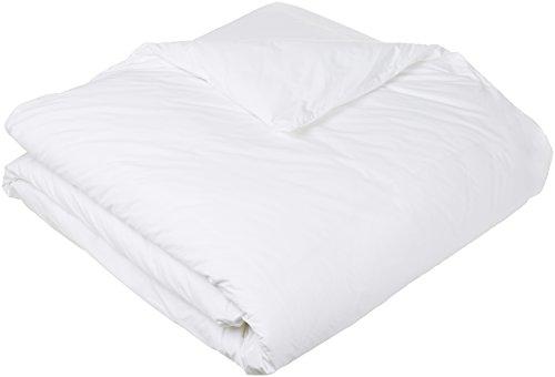 AmazonBasics Pinzon - Bettdeckenschutzbezug, hypoallergen, Baumwolle, 135 x 200 cm, Weiß (Vollständige Bettbezug)