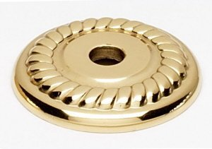 Alno A813-1P-PB Rope Traditional Backplates, Polished Brass, 1 by Alno -