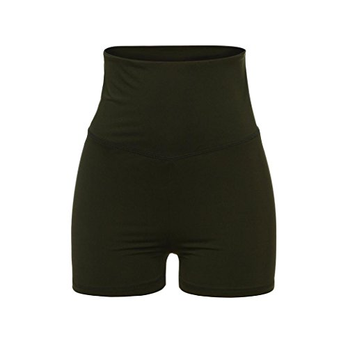 TWIFER Frauen Yoga Skinny Sport Gym Hosen Lauf Casual Elastische Hohe Taille Hot Shorts (Taille Hohe Short Hot)