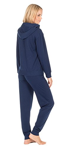 Damen Trainingshose Style Schlafanzüge Baumwollemischung Forver mit Kapuze