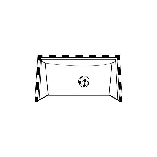 PVC-Wandaufkleber sind ein Aufkleber und leicht zu entfernen Fußball-Tor-Muster, Fitte Schlafzimmer für Kinderzimmer, 42 x 78cm, 2stk.
