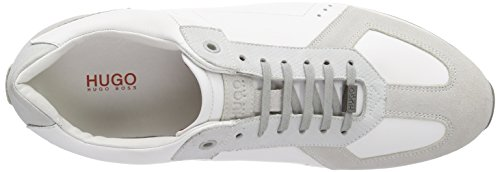 Hugo Infini 10187530 01, Chaussures à lacets homme Beige - Beige (white 100)