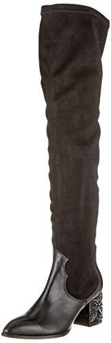 Fersengold Damen 298-615 Overknees, Schwarz 001, 39 EU