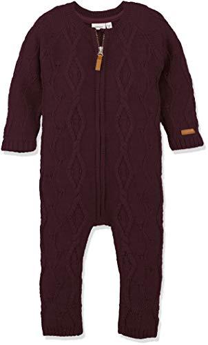 NAME IT Baby-Mädchen Spieler NMFWRILLA Wool LS Knit Suit NOOS, Violett Prune Purple, 92