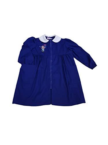 Ambrosino grembiule scuola elementare lungo ragazza con zip per bambina (art. i115) (blu, taglia 75-8 anni)